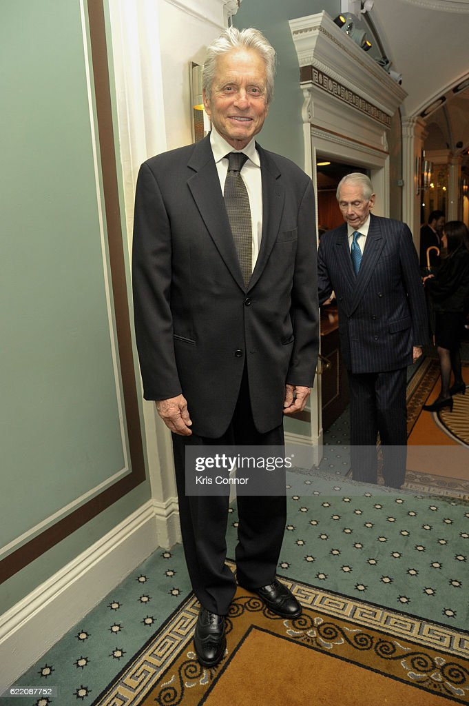 Actor Michael Douglas attends the 2016 World Jewish Congress Herzl Award Dinner at The Pierre Hotel on November 9, 2016 in New York City.