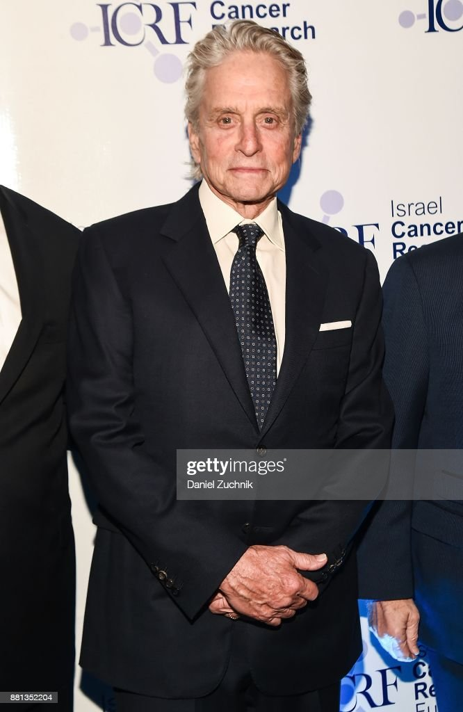Actor Michael Douglas attends the 2017 Israel Cancer Research Fund Gala at The Ziegfeld Ballroom on November 28, 2017 in New York City.