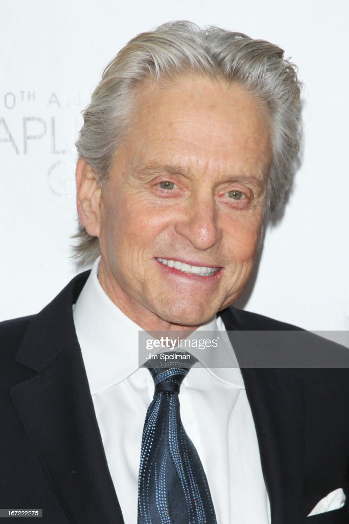 Actor <a gi-track='captionPersonalityLinkClicked' href=/galleries/search?phrase=Michael+Douglas&family=editorial&specificpeople=171111 ng-click='$event.stopPropagation()'>Michael Douglas</a> attends the 40th Anniversary Chaplin Award Gala at Avery Fisher Hall at Lincoln Center for the Performing Arts on April 22, 2013 in New York City.