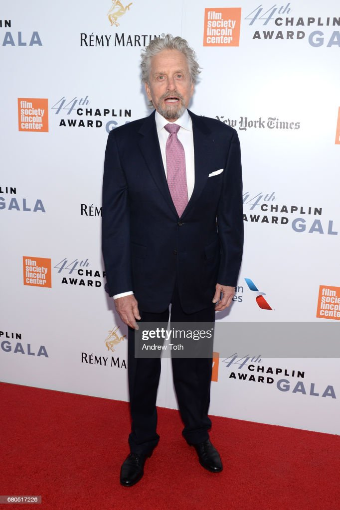 Actor Michael Douglas attends the 44th Chaplin Award Gala at David H. Koch Theater at Lincoln Center on May 8, 2017 in New York City.