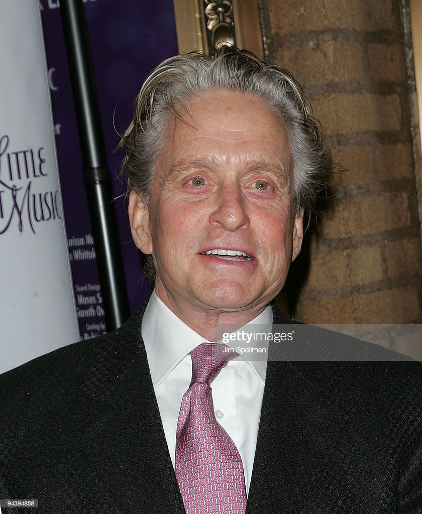 Actor Michael Douglas attends the 'A Little Night Music' Broadway opening night at the Walter Kerr Theatre on December 13, 2009 in New York City.