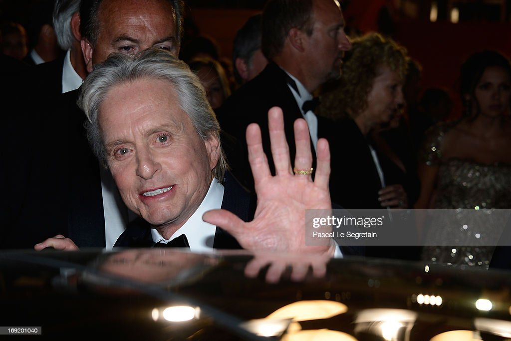 Actor <a gi-track='captionPersonalityLinkClicked' href=/galleries/search?phrase=Michael+Douglas&family=editorial&specificpeople=171111 ng-click='$event.stopPropagation()'>Michael Douglas</a> attends the 'Behind The Candelabra' premiere during The 66th Annual Cannes Film Festival at Theatre Lumiere on May 21, 2013 in Cannes, France.