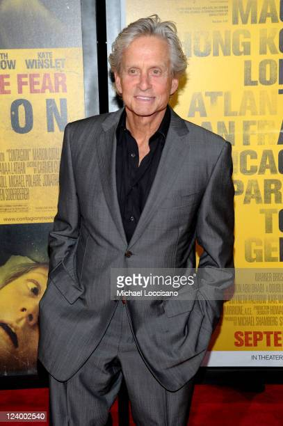 Actor Michael Douglas attends the 'Contagion' premiere at the Rose Theater Jazz at Lincoln Center on September 7 2011 in New York City