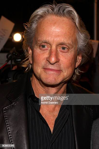 Actor Michael Douglas attends the Michael Kors Spring 2010 fashion show at the tent at Bryant Park on September 16 2009 in New York New York