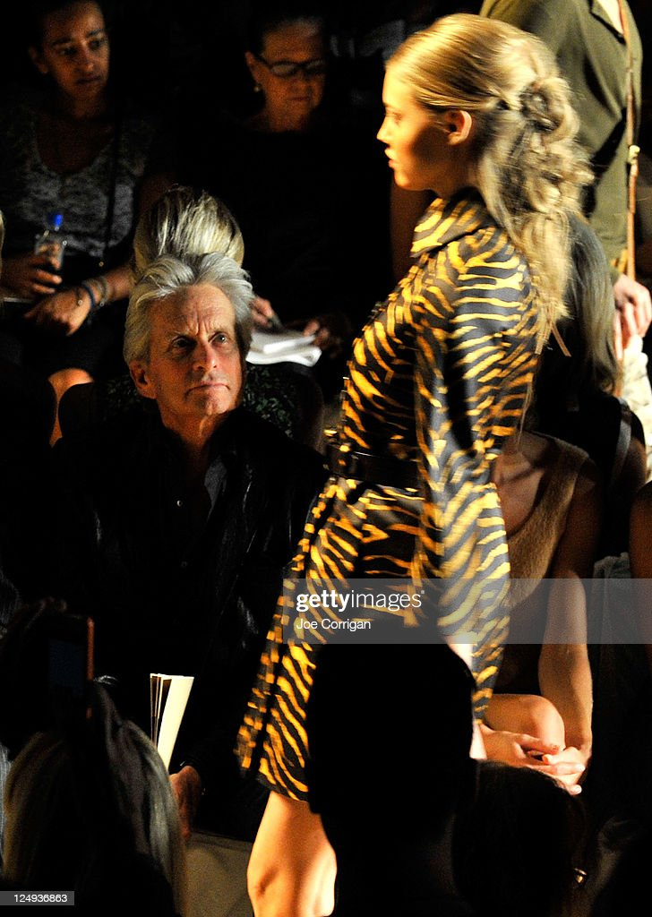 Actor Michael Douglas attends the Michael Kors Spring 2012 fashion show during Mercedes-Benz Fashion Week at The Theater at Lincoln Center on September 14, 2011 in New York City.