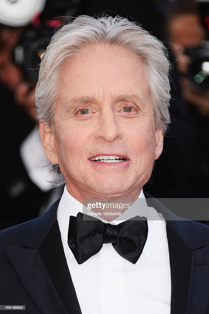 Actor Michael Douglas attends the Premiere of 'Behind the Candelabra' during the 66th Annual Cannes Film Festival at Palais des Festivals on May 21, 2013 in Cannes, France.