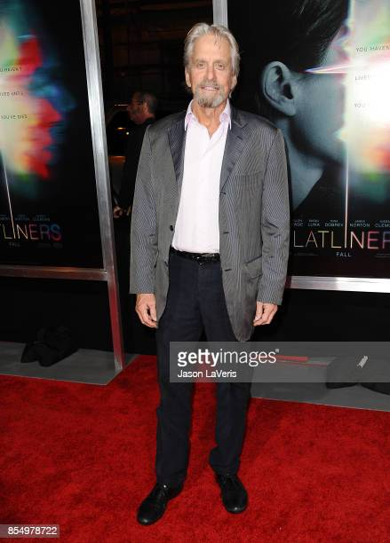 Actor Michael Douglas attends the premiere of 'Flatliners' at The Theatre at Ace Hotel on September 27 2017 in Los Angeles California