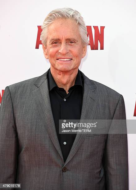 Actor Michael Douglas attends the premiere of Marvel's 'AntMan' at the Dolby Theatre on June 29 2015 in Hollywood California