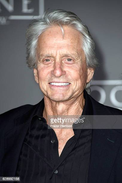 Actor Michael Douglas attends the premiere of Walt Disney Pictures and Lucasfilm's 'Rogue One A Star Wars Story' at the Pantages Theatre on December...