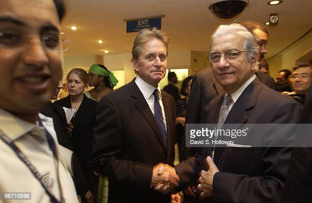 Actor Michael Douglas attends the United Nations Day Of Peace September 19 2003 in New York City