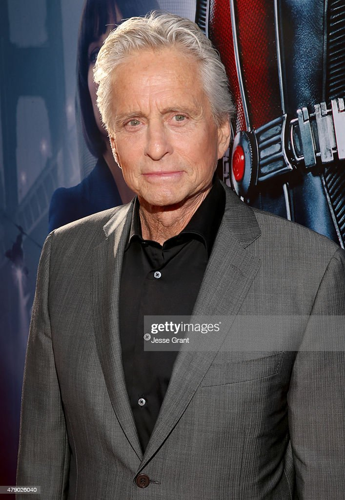 Actor <a gi-track='captionPersonalityLinkClicked' href=/galleries/search?phrase=Michael+Douglas&family=editorial&specificpeople=171111 ng-click='$event.stopPropagation()'>Michael Douglas</a> attends the world premiere of Marvel's 'Ant-Man' at The Dolby Theatre on June 29, 2015 in Los Angeles, California.