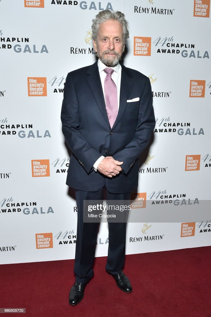 Actor Michael Douglas backstage during the 44th Chaplin Award Gala at David H. Koch Theater at Lincoln Center on May 8, 2017 in New York City.