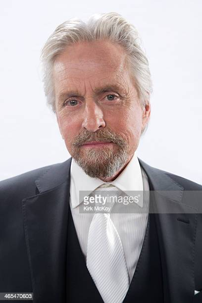 Actor Michael Douglas is photographed at the SAG Awards 2014 for Los Angeles Times on January 18 2014 in Los Angeles California