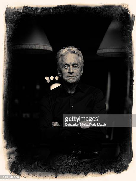 Actor Michael Douglas is photographed for Paris Match on February 12 2016 in New York City