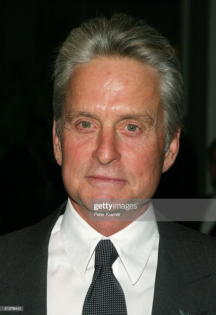 Actor Michael Douglas makes an appearance at The Waldorf Astoria for the United Nations Association Global Leadership Awards Dinner. September 30, 2004 in New York City.