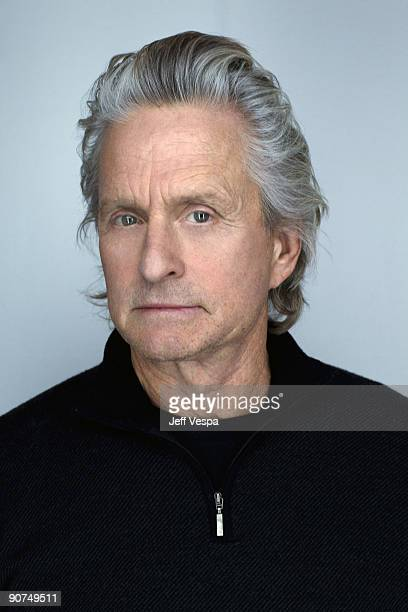 Actor Michael Douglas poses at the Toronto Film Festival 2009