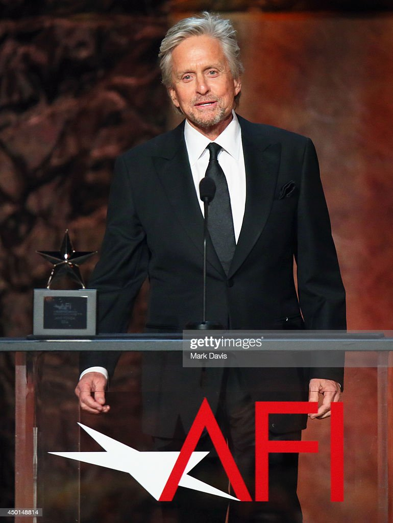Actor Michael Douglas speaks onstage at the 2014 AFI Life Achievement Award: A Tribute to Jane Fonda at the Dolby Theatre on June 5, 2014 in Hollywood, California. Tribute show airing Saturday, June 14, 2014 at 9pm ET/PT on TNT.