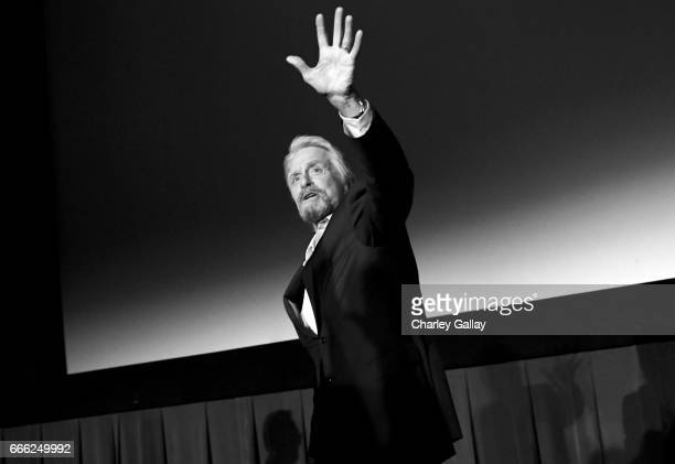 Actor Michael Douglas speaks onstage at the screening of 'The China Syndrome' during the 2017 TCM Classic Film Festival on April 8 2017 in Los...