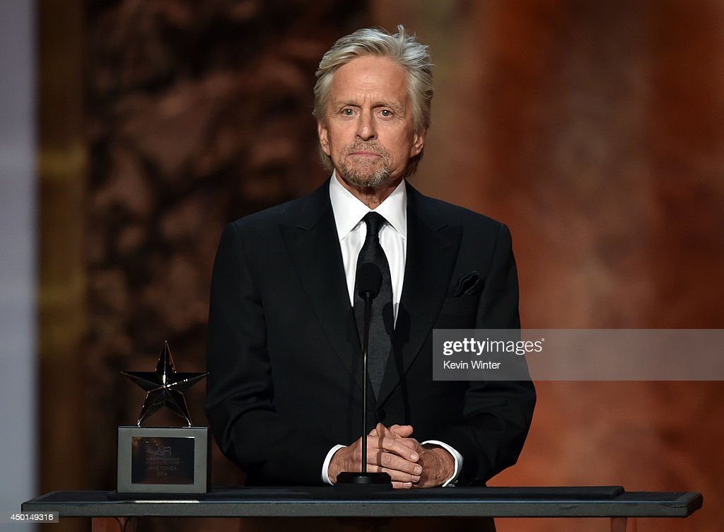 Actor Michael Douglas speaks onstage during the 2014 AFI Life Achievement Award: A Tribute to Jane Fonda at the Dolby Theatre on June 5, 2014 in Hollywood, California. Tribute show airing Saturday, June 14, 2014 at 9pm ET/PT on TNT.