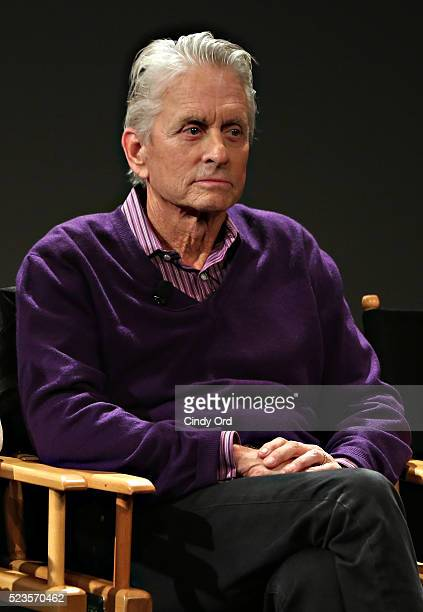 Actor Michael Douglas takes part in Tribeca Talks What We Talk About When We Talk About The Bomb during the 2016 Tribeca Film Festival at SVA Theatre...