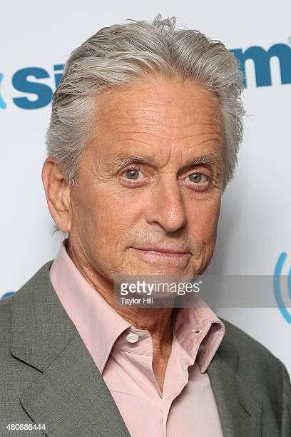 Actor Michael Douglas visits the SiriusXM Studios on July 14 2015 in New York City