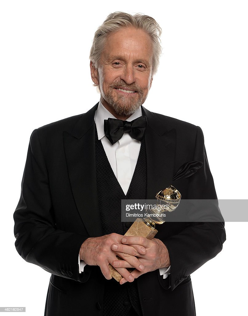 Actor Michael Douglas winner of Best Actor in a Miniseries or Television Film for 'Behind the Candelabra' poses for a portrait during the 71st Annual...