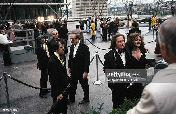 Actor Michael Douglas with actress Brenda Vaccaroarrives to the 47th Academy Awards at Dorothy Chandler Pavilion in Los AngelesCalifornia