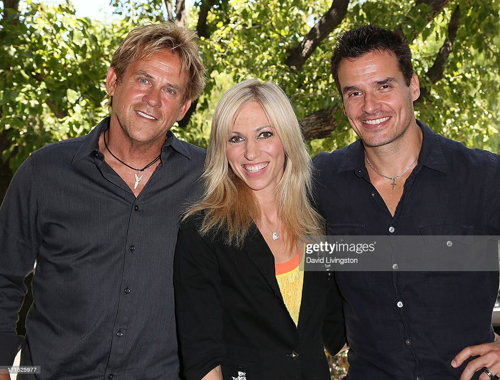 Actor Michael Dudikoff, singer Debbie Gibson and actor Antonio Sabato Jr. celebrate the 25th anniversary of Gibson's 'Foolish Beat' at Antonio Sabato Jr.'s acting camp on June 25, 2013 in Westlake Village, California.