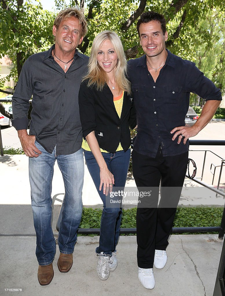 Actor Michael Dudikoff, singer Debbie Gibson and actor <a gi-track='captionPersonalityLinkClicked' href=/galleries/search?phrase=Antonio+Sabato+Jr.&family=editorial&specificpeople=211332 ng-click='$event.stopPropagation()'>Antonio Sabato Jr.</a> celebrate the 25th anniversary of Gibson's 'Foolish Beat' at <a gi-track='captionPersonalityLinkClicked' href=/galleries/search?phrase=Antonio+Sabato+Jr.&family=editorial&specificpeople=211332 ng-click='$event.stopPropagation()'>Antonio Sabato Jr.</a>'s acting camp on June 25, 2013 in Westlake Village, California.