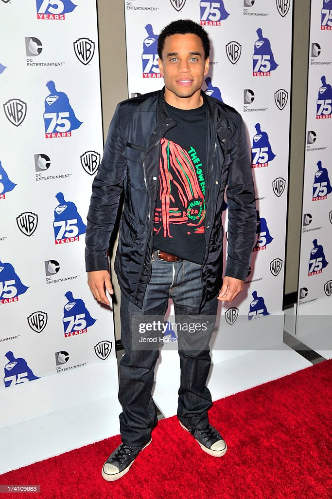 Actor <a gi-track='captionPersonalityLinkClicked' href=/galleries/search?phrase=Michael+Ealy&family=editorial&specificpeople=227370 ng-click='$event.stopPropagation()'>Michael Ealy</a> arrives at DC Entertainment and Warner Bros. host Superman 75 party at San Diego Comic-Con at Hard Rock Hotel San Diego on July 19, 2013 in San Diego, California. Celebrities, executives and comic book creators packed the Hard Rock Hotel's Float Bar in downtown San Diego Friday night to celebrate 75 years of Superman. The guest list included a who's who of Hollywood elite and Superman lore, from its current comic creators to the original 1978 film to the current Man of Steel, Henry Cavill.