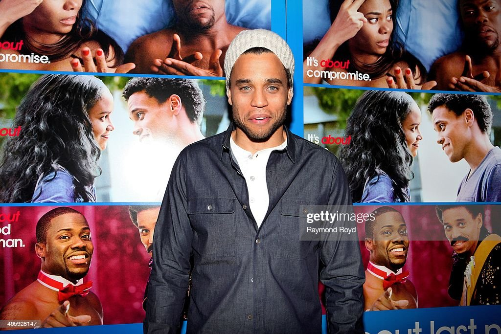 Actor Michael Ealy poses for photos on the red carpet prior to a special screening of his film 'About Last Night' at the Showplace ICON Theatres in...