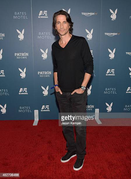"Actor Michael Easton arrives at the Playboy and AE ""Bates Motel"" Event During ComicCon Weekend on July 25 2014 in San Diego California"