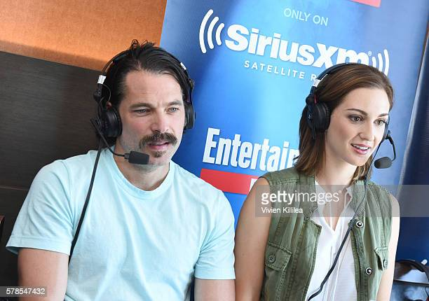 Actor Michael Eklund and actress Katherine Barrell attend SiriusXM's Entertainment Weekly Radio Channel Broadcasts From ComicCon 2016 at Hard Rock...