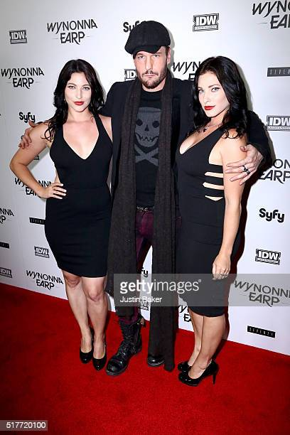 Actor Michael Eklund and guests attend the premiere of Syfy's 'Wynonna Earp' at WonderCon 2016 at Regal LA Live Stadium 14 on March 26 2016 in Los...