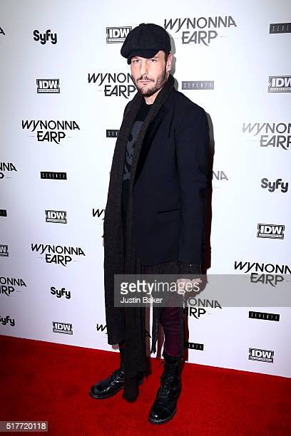 Actor Michael Eklund attends the premiere of Syfy's 'Wynonna Earp' at WonderCon 2016 at Regal LA Live Stadium 14 on March 26 2016 in Los Angeles...