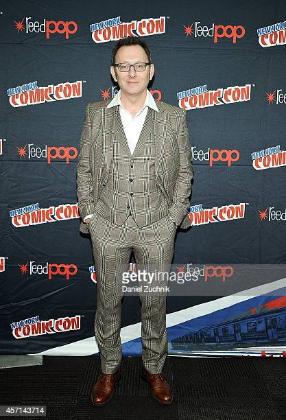 Actor Michael Emerson attends CBS Network's 'Person of Interest' press room at 2014 New York Comic Con Day 4 at Jacob Javitz Center on October 12...