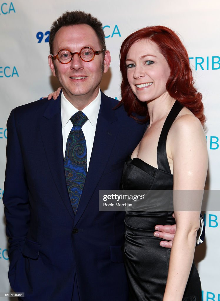 Actor <a gi-track='captionPersonalityLinkClicked' href=/galleries/search?phrase=Michael+Emerson&family=editorial&specificpeople=653299 ng-click='$event.stopPropagation()'>Michael Emerson</a> (L) with wife actress <a gi-track='captionPersonalityLinkClicked' href=/galleries/search?phrase=Carrie+Preston&family=editorial&specificpeople=2220324 ng-click='$event.stopPropagation()'>Carrie Preston</a> attend the 'Person Of Interest' preview screening and Q&A at92Y Tribeca on September 24, 2012 in New York City.