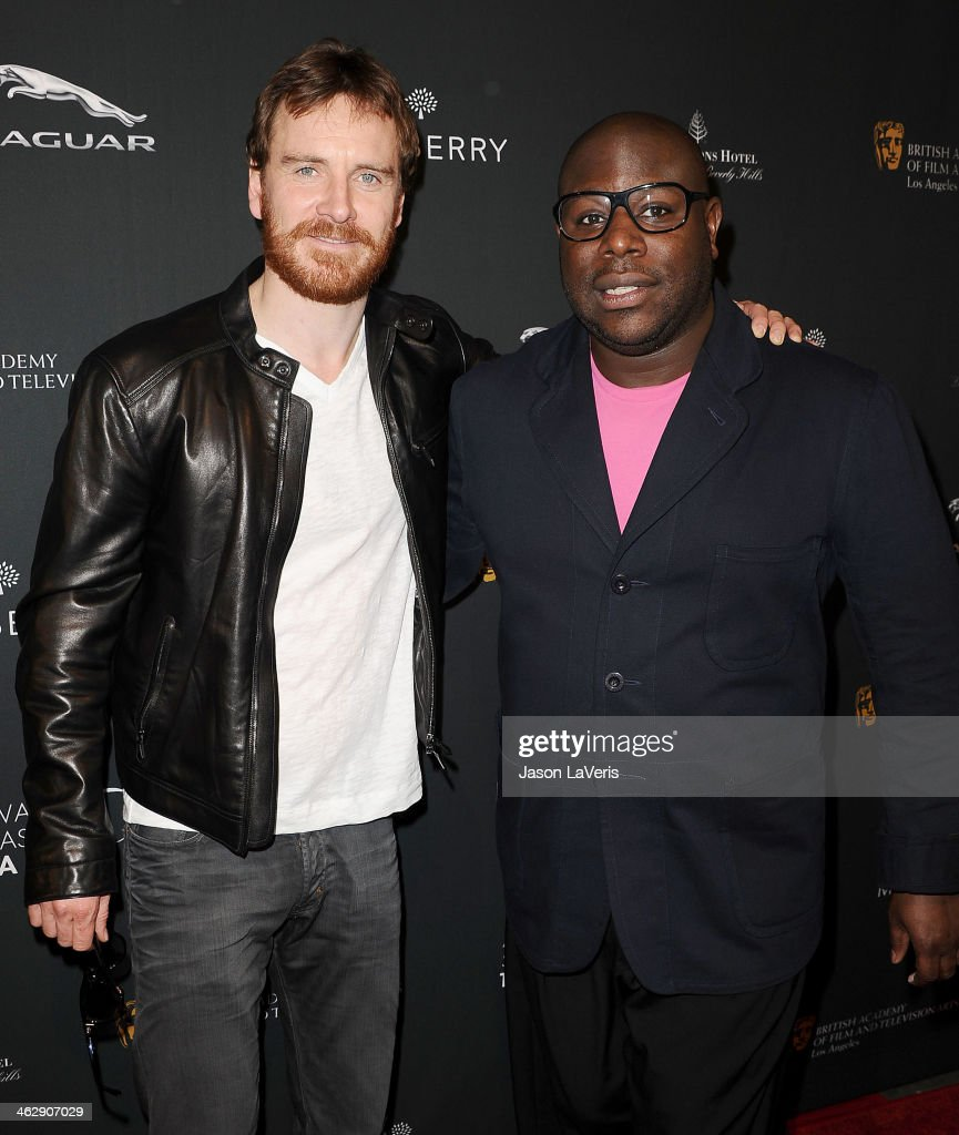 Actor Michael Fassbender and director Steve McQueen attend the BAFTA LA 2014 awards season tea party at Four Seasons Hotel Los Angeles at Beverly Hills on January 11, 2014 in Beverly Hills, California.