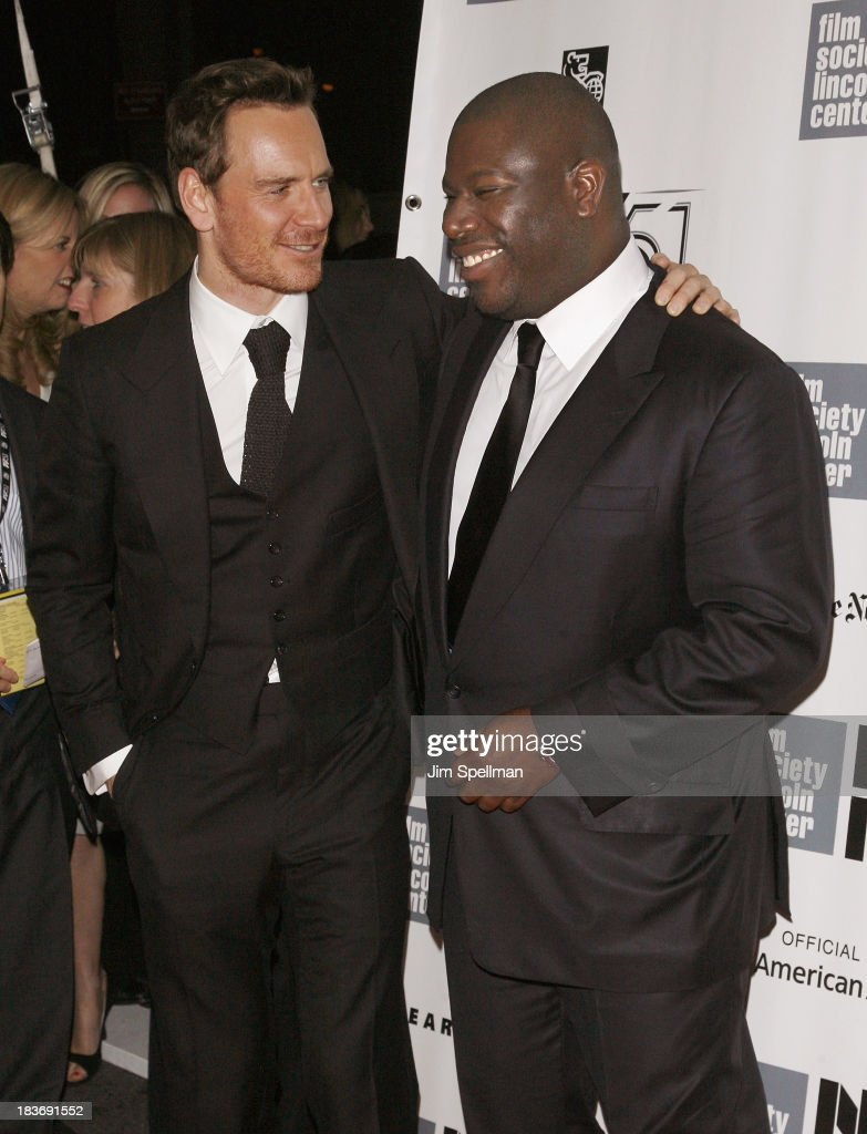 Actor <a gi-track='captionPersonalityLinkClicked' href=/galleries/search?phrase=Michael+Fassbender&family=editorial&specificpeople=4157925 ng-click='$event.stopPropagation()'>Michael Fassbender</a> and director Steve McQueen attends the '12 Years A Slave' Premiere during the 51st New York Film Festival at Alice Tully Hall at Lincoln Center on October 8, 2013 in New York City.