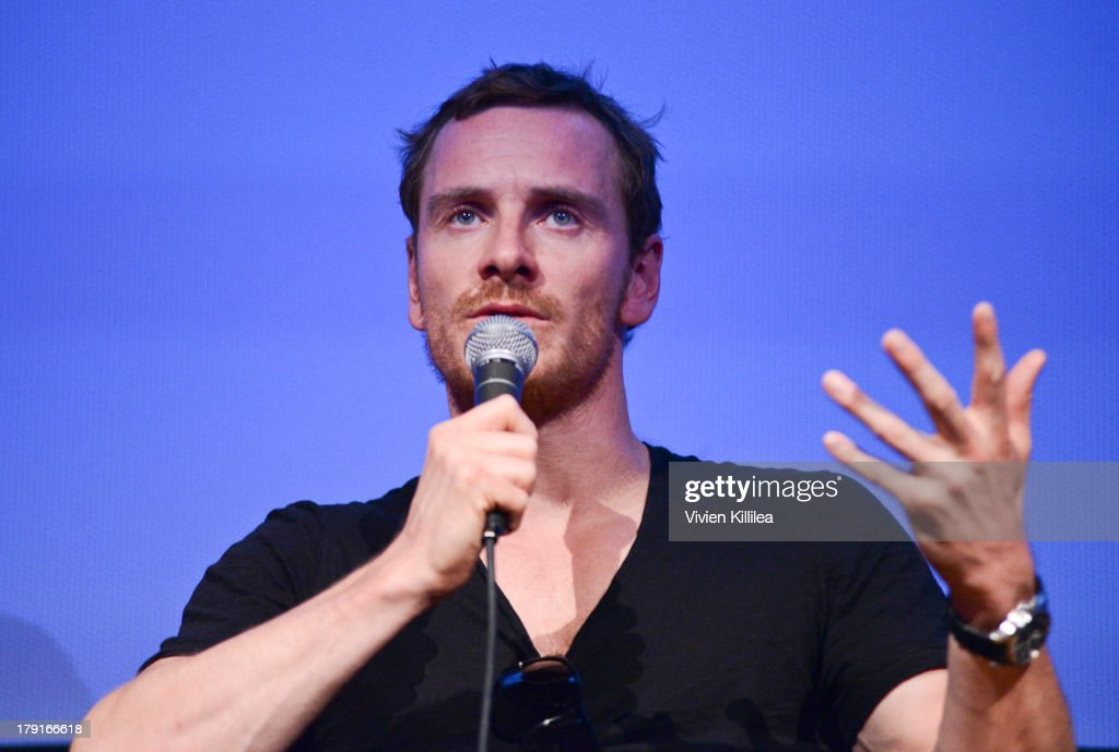 Actor <a gi-track='captionPersonalityLinkClicked' href=/galleries/search?phrase=Michael+Fassbender&family=editorial&specificpeople=4157925 ng-click='$event.stopPropagation()'>Michael Fassbender</a> attends a Q&A for the film 12 Years a Slave at the 2013 Telluride Film Festival - Day 3 on August 31, 2013 in Telluride, Colorado.