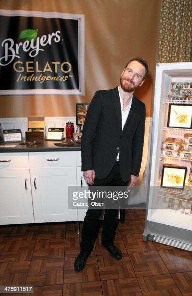 Actor Michael Fassbender attends Breyers Gelato Indulgences in the On3 Official Presenter Gift Lounge during the 2014 Film Independent Spirit Awards...