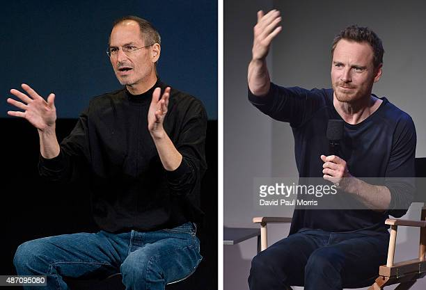 In this composite image a comparison has been made between Steve Jobs and actor Michael Fassbender Actor Michael Fassbender will play Steve Jobs in a...