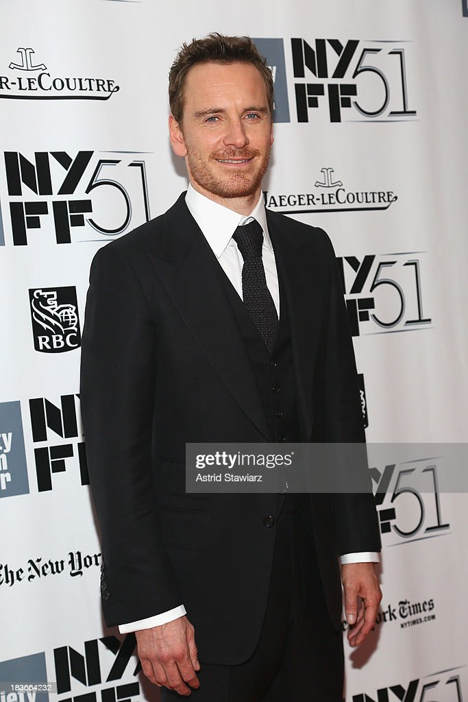 Actor <a gi-track='captionPersonalityLinkClicked' href=/galleries/search?phrase=Michael+Fassbender&family=editorial&specificpeople=4157925 ng-click='$event.stopPropagation()'>Michael Fassbender</a> attends the '12 Years A Slave' premiere during the 51st New York Film Festival at Alice Tully Hall at Lincoln Center on October 8, 2013 in New York City.