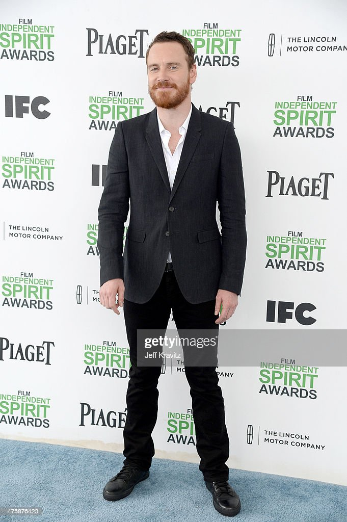 Actor Michael Fassbender attends the 2014 Film Independent Spirit Awards on March 1, 2014 in Santa Monica, California.