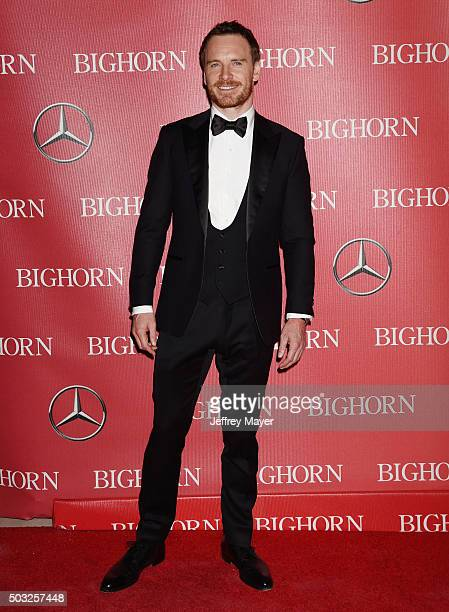 Actor Michael Fassbender attends the 27th Annual Palm Springs International Film Festival Awards Gala at Palm Springs Convention Center on January 2...