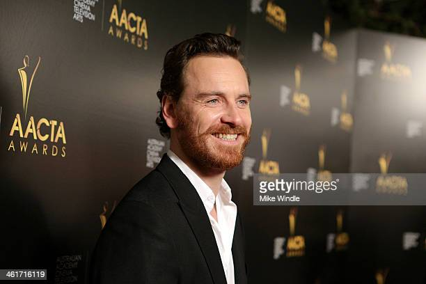 Actor Michael Fassbender attends the 3rd AACTA International Awards at Sunset Marquis Hotel Villas on January 10 2014 in West Hollywood California