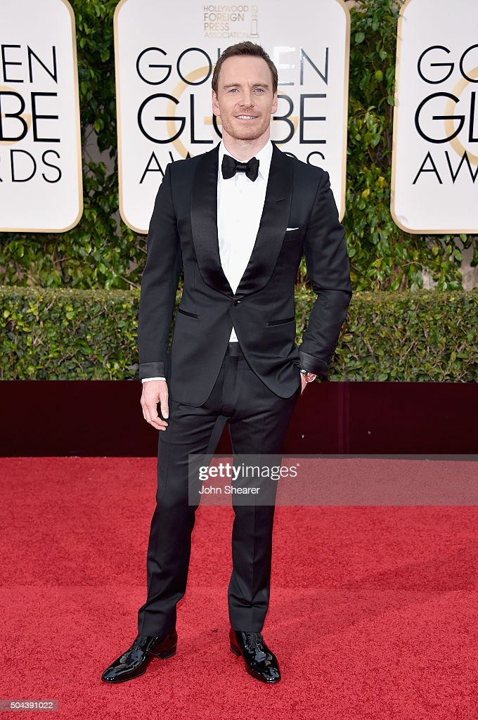 Actor <a gi-track='captionPersonalityLinkClicked' href=/galleries/search?phrase=Michael+Fassbender&family=editorial&specificpeople=4157925 ng-click='$event.stopPropagation()'>Michael Fassbender</a> attends the 73rd Annual Golden Globe Awards held at the Beverly Hilton Hotel on January 10, 2016 in Beverly Hills, California.