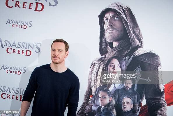 Actor Michael Fassbender attends the Assassin's Creed photocall at Villa Magna Hotel on December 7 2016 in Madrid Spain
