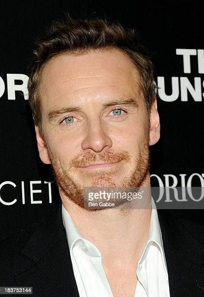 Actor Michael Fassbender attends the Emporio Armani with GQ The Cinema Society screening of 'The Counselor' at the Crosby Street Hotel on October 9...