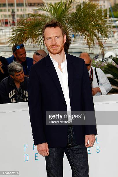 Actor Michael Fassbender attends the 'Macbeth' photocall during the 68th annual Cannes Film Festival on May 23 2015 in Cannes France